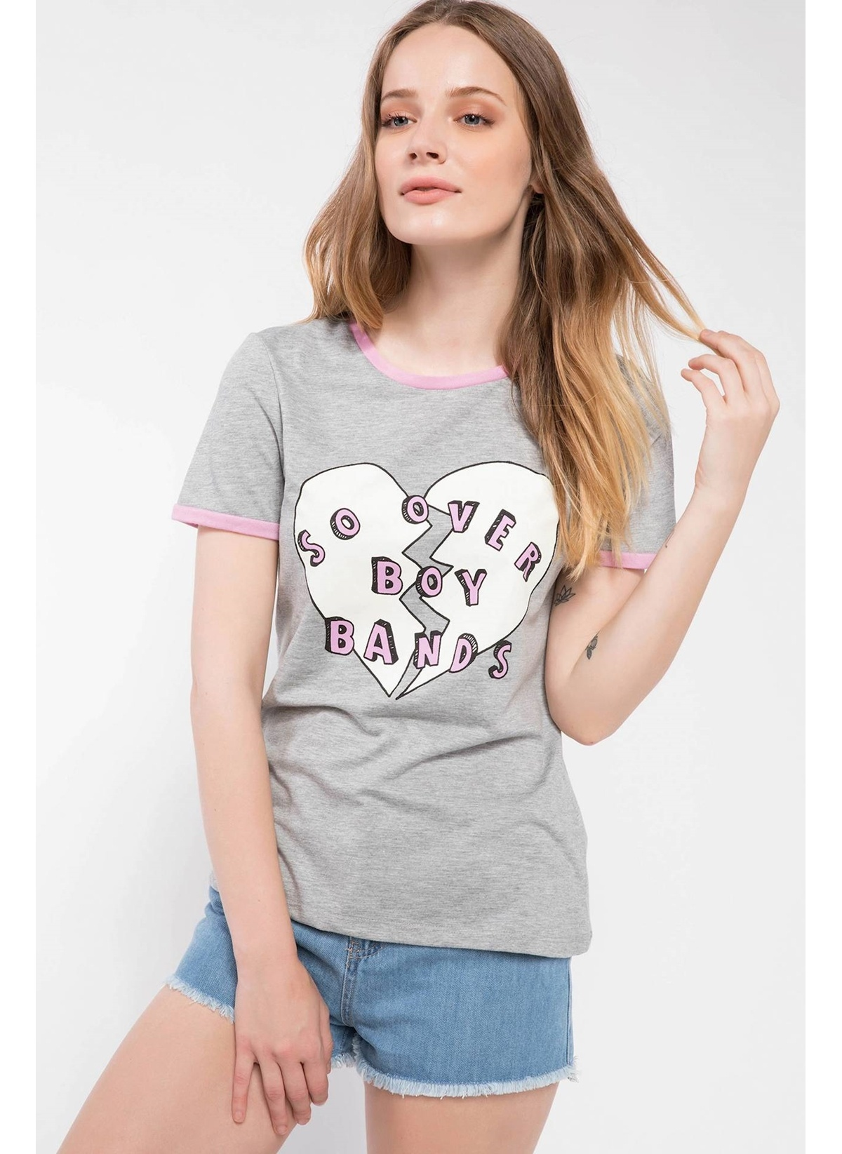 Defacto Baskılı T-shirt J0379az18smgr210t-shirt – 19.99 TL